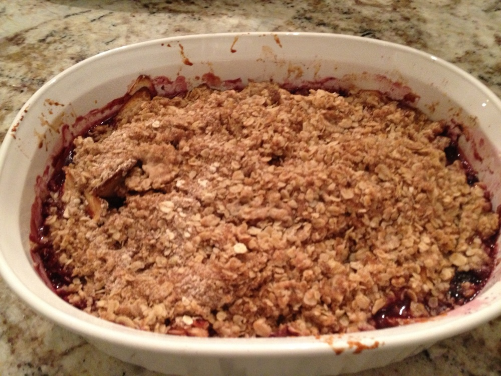 Apple Blueberry crisp (3/4)